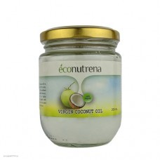 """Масло кокосовое органическое холодного отжима (Virgin Coconut Oil), """"Econutrena"""", 500мл"""